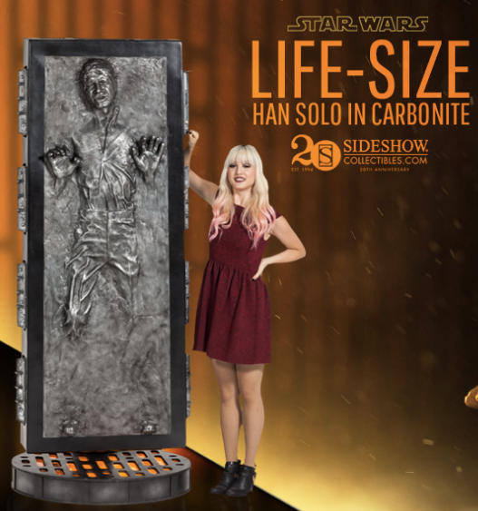 Sideshow Collectibles Han Solo in Carbonite Life-Size Figure ...