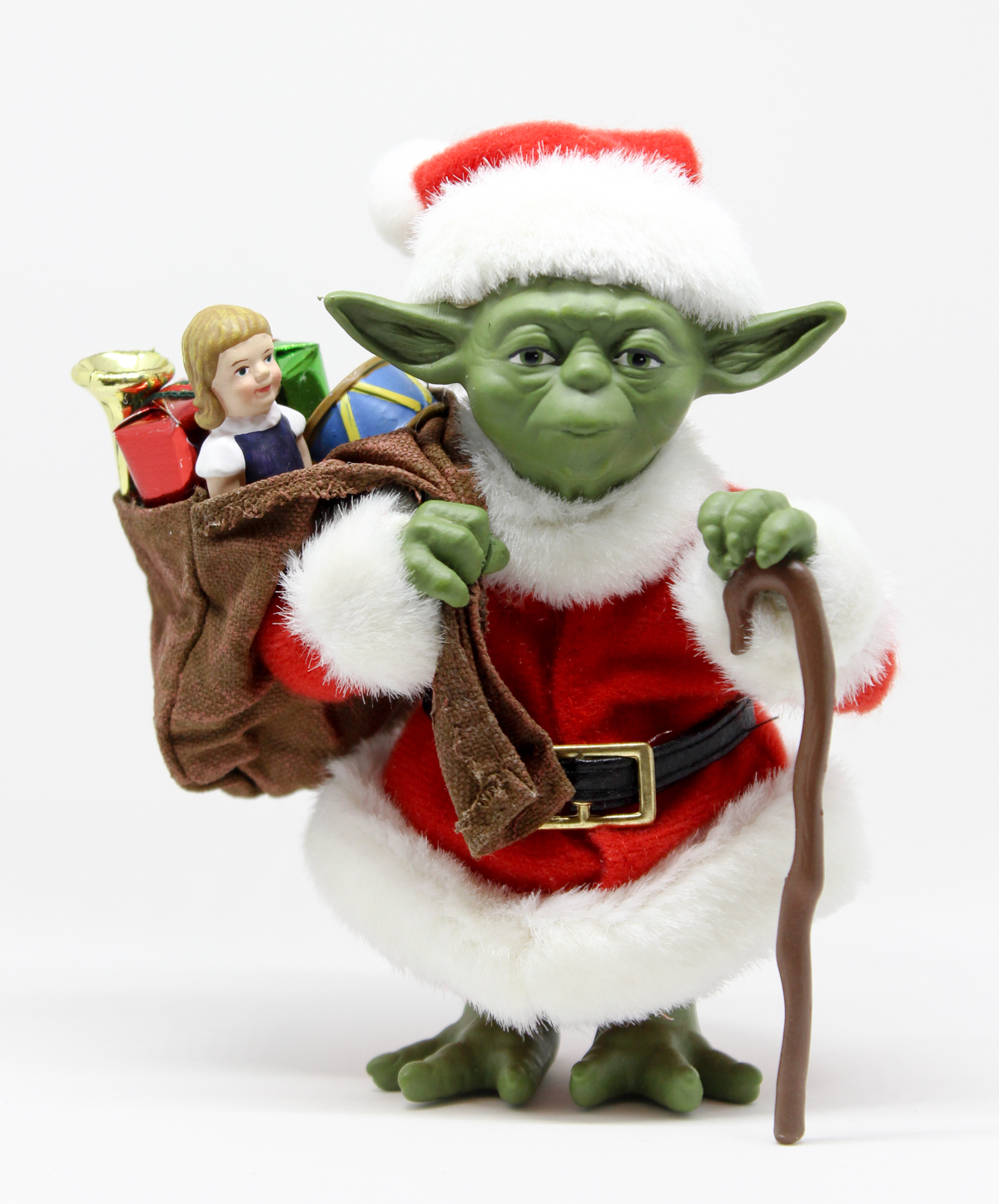 37d5407b18ed2 Celebrate Life Day in July with the latest entry in our Toy Guide  Kurt S.  Adler s Santa Yoda Hand-Crafted Fabriché.