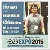 Star Wars Artist Brian Miller Signing at D23 Expo 2015