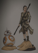Sideshow Collectibles Rey and BB-8 Premium Format Figures Preview