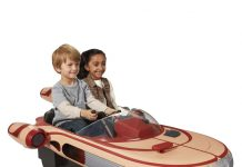 Star Wars Luke Skywalker's Landspeeder(tm) 12 Volt Ride On 40th Anniversary 0818830F.zoom