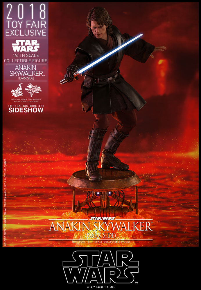 Episode Iii Revenge Of The Sith Anakin Skywalker Dark Side Hot Toys San Diego Comic Con 2018 Exclusive Theforceguide Com