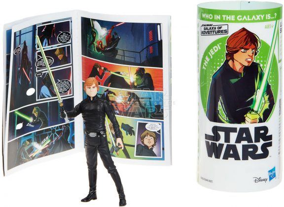 STAR WARS GALAXY OF ADVENTURES LUKE SKYWALKER Figure And Mini Comic (2)