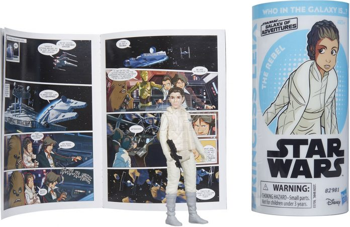 STAR WARS GALAXY OF ADVENTURES PRINCESS LEIA Figure And Mini Comic (2)