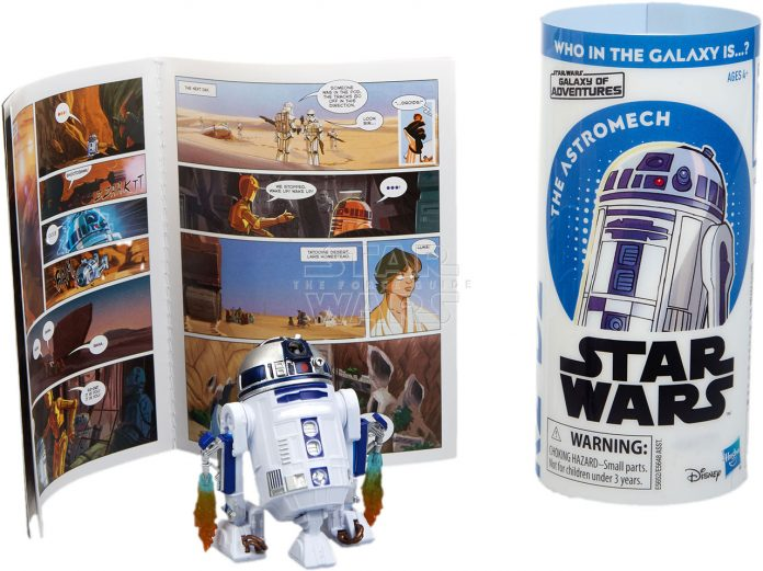 STAR WARS GALAXY OF ADVENTURES R2 D2 Figure And Mini Comic (2)