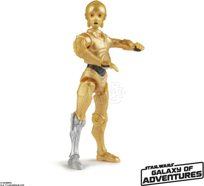 STAR WARS GALAXY OF ADVENTURES 5 INCH Figure Assortment C 3PO (oop 1)