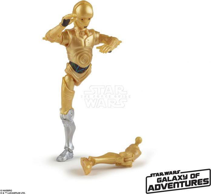 STAR WARS GALAXY OF ADVENTURES 5 INCH Figure Assortment C 3PO (oop 3)