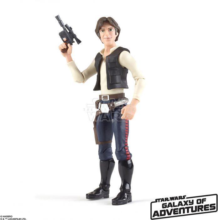 STAR WARS GALAXY OF ADVENTURES 5 INCH Figure Assortment Han Solo (oop 1)
