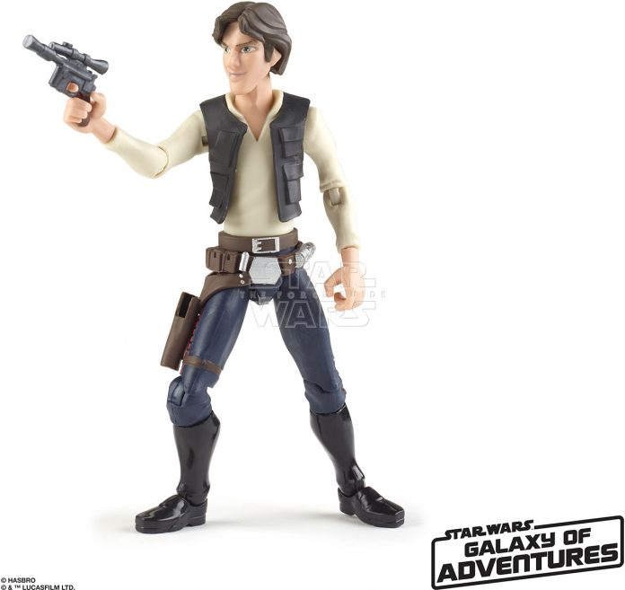 STAR WARS GALAXY OF ADVENTURES 5 INCH Figure Assortment Han Solo (oop 2)
