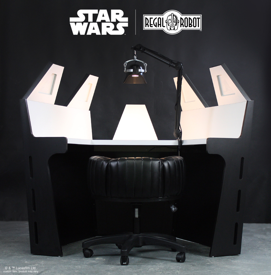 Regal Robot Latest Custom Star Wars Furniture – The Darth Vader Meditation Chamber Desk Set!