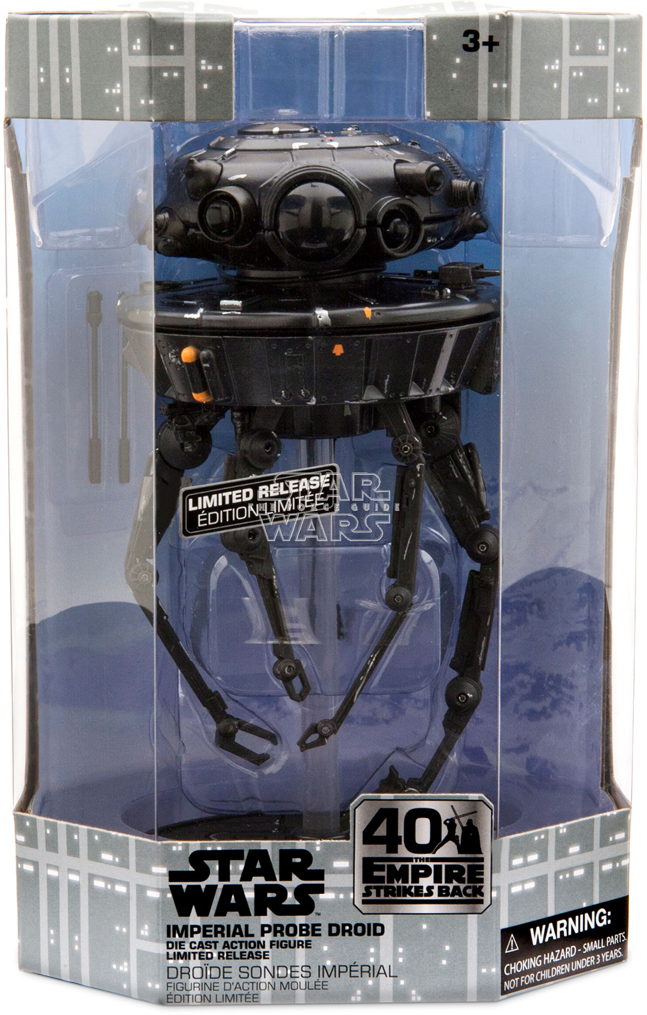 Star Wars Imperial Probe Droid 40th anniversary Disney Limited Edition Die Cast